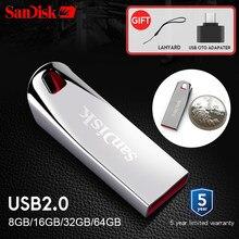 Sandisk cz71 usb pen drive 32 gb 16 gb 8 gb 64gb mini pen drives 2.0 pendrive 64gb apoio oficial verificar
