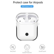 WIWU TPU/PC Wireless Earphone Case for Airpods Waterproof Protective Air Pods Charging Box Shockproof Carry