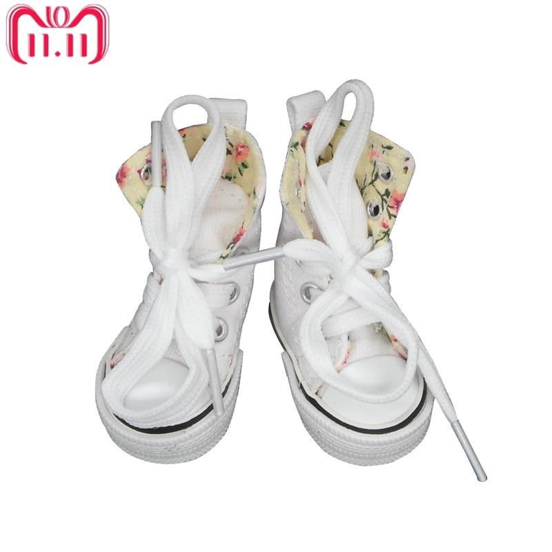 Tilda Canvas Sneaker For Paola Reina Doll,Fashion Mini Toy Gym Shoes for Tilda,1/3 Bjd Doll Sneakers Shoes for Dolls Accessories canvas shoes for paola reina doll fashion mini toy gym shoes for tilda 1 3 bjd doll footwear sports shoes for dolls accessories