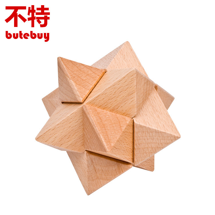 Hexagonal ball Unlocking ring Wooden Puzzle IQ Mind Brain Teaser Puzzles Game for Adults Children Kids Gift board games toy metal puzzle iq mind brain game teaser square educational toy gift for children adult kid game toy