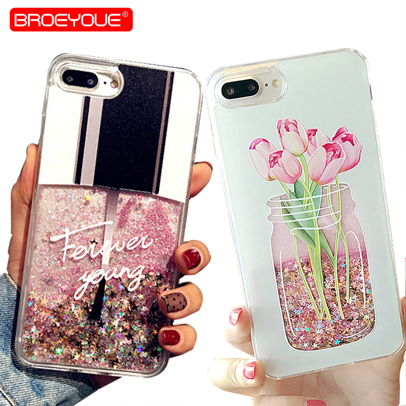 best sneakers ef31b aa445 Glitter Liquid Case For Samsung Galaxy A7 2018 A5 2017 J3 J5 J7 2017 S7 S8  S9 Plus Note 9 For Iphone SE 5S 6S 7 8 Plus XR XS Max