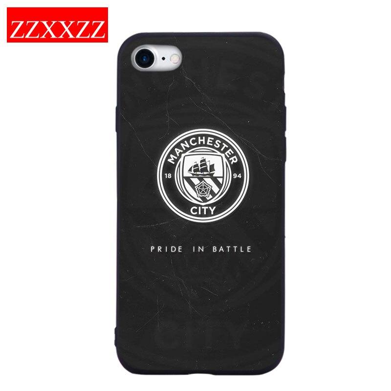 ZZXXZZ Football Manchester City FC Logo Phone Case For IPhone 7 8 ...