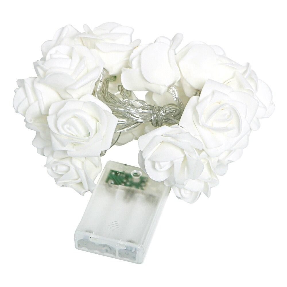 Fairy Light 20 LED Rose Flower Light Flasher Light String Home Wedding Garden Valentine s Day