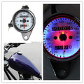 High Quality Universal Motorcycle Dual Odometer Speedometer Gauge LED Backlight Signal Light Free Shipping