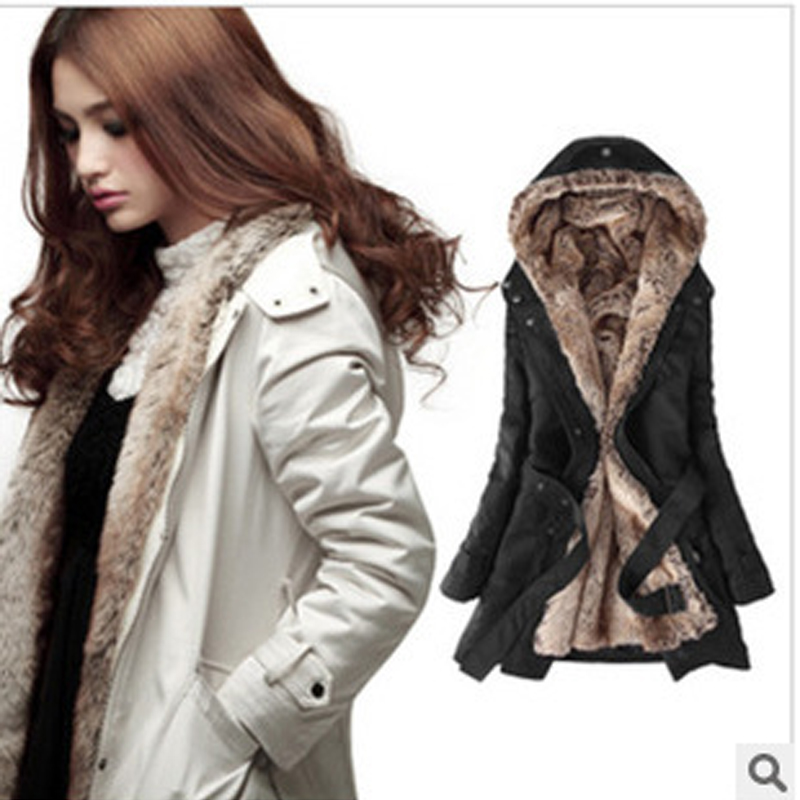 Winter women Jacket Coats  Fashion Slim Medium long cotton Hooded Overcoat Thick Warm Jacket  Coat Lady Clothing High-quality 2017 winter classic fashion fur hoodie coat jacket women thick warm long sleeve cotton coats student medium long loose overcoat