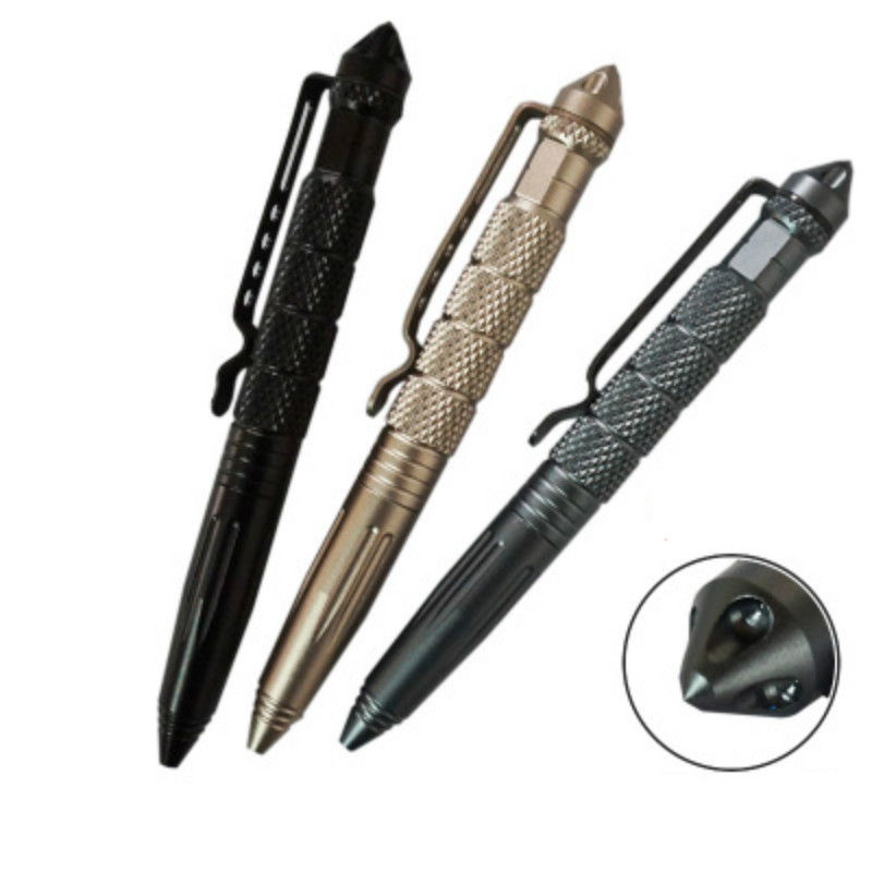 Aluminum Alloy Pen-shaped Anti-wolf Keychain Self-defense Personal Security Tool