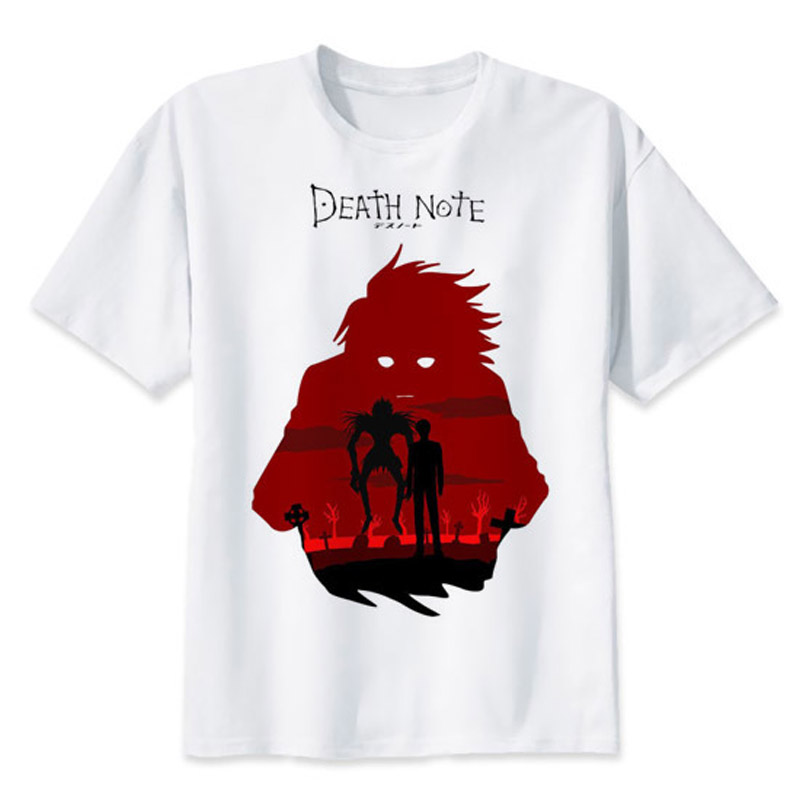 Death Note t-shirt Ryuuku Ryuk Funny tee shirts L is watching 2017 fashion short t shirt printed men tops MR2392