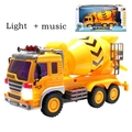 Large size Boxed boys Gift cement mixer truck 3d music lighted engineering truck toy car boy model dump truck toys for kids boys