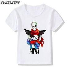 SUNBIHTRF Game Undertale T-Shirt Undertale Sans and Papyrus T Shirt New  Summer Children Tops Funny Cute Boys Girls Clothing 3bc63b69fd10