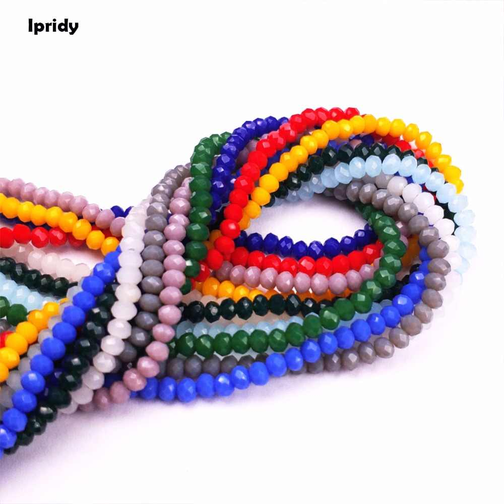 150pcs/lot 2mm/3mm/4mm 48 Cutting Tyre Crystal Beads Charm Faceted Glass Beads Loose Spacer Bead for DIY Jewelry Making