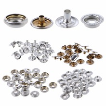 100 Pcs Stainless Steel Fastener Snap Press Stud Cap Button Kits Marine Boat Canvas Nuts & Bolts High Quality C45