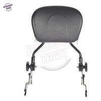 Adjustable Black Backrest Sissy Bar Case For Harley Touring Road King Glide Street Electra Glide 2009