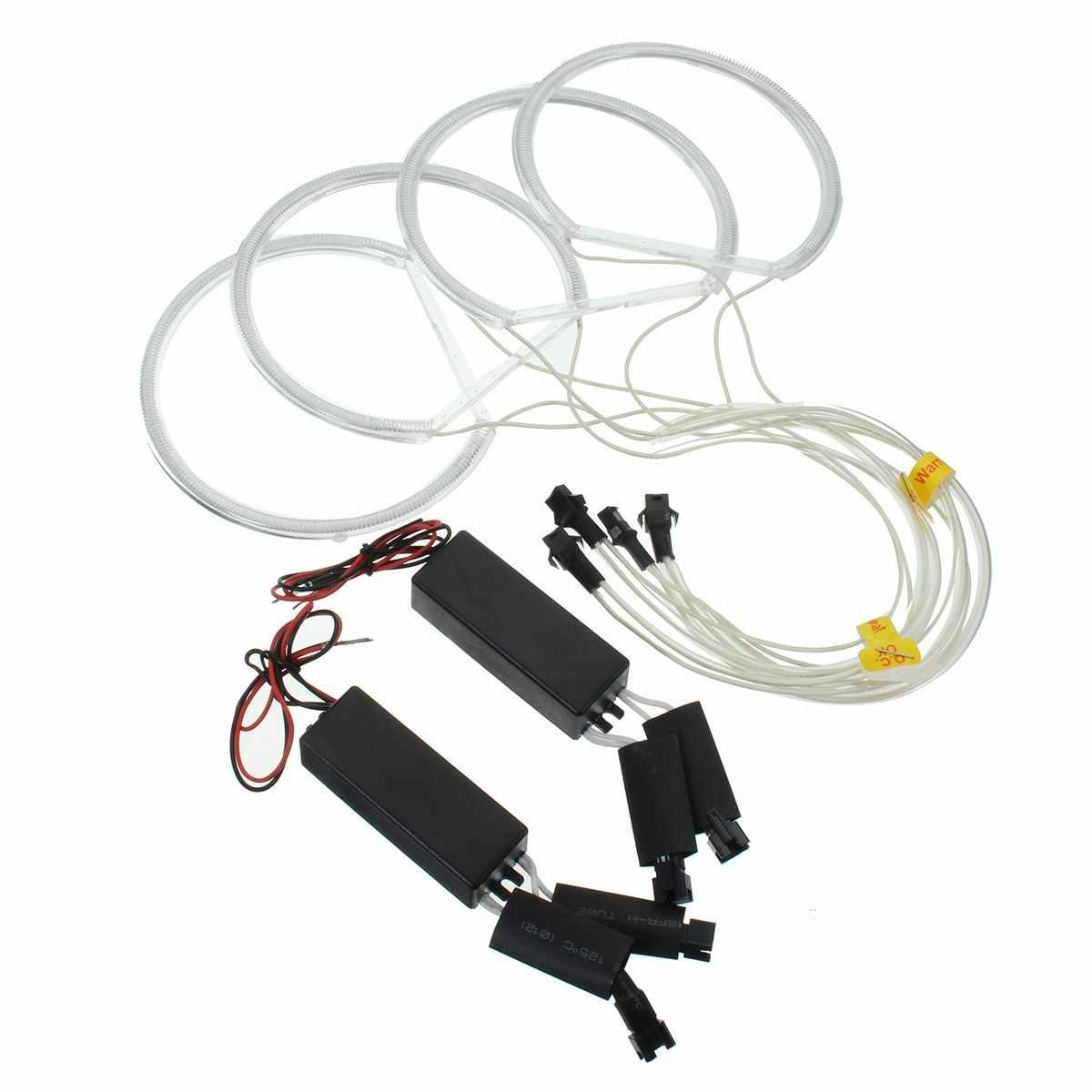 131mm Car Headlight CCFL Angel Eyes Kit Cool White Halo Ring   Error Free For BMW E36 E38 E39 E46