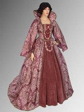 Noblewomans Renaissance Style Dress Handmade from Antique Velvet and Brocade