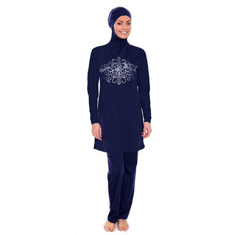 Muslim Swimwear Women Girls Muslim Female Bathing Wear Plus Size Burkinis Women Islamic Full Cover Floral Swim Suits