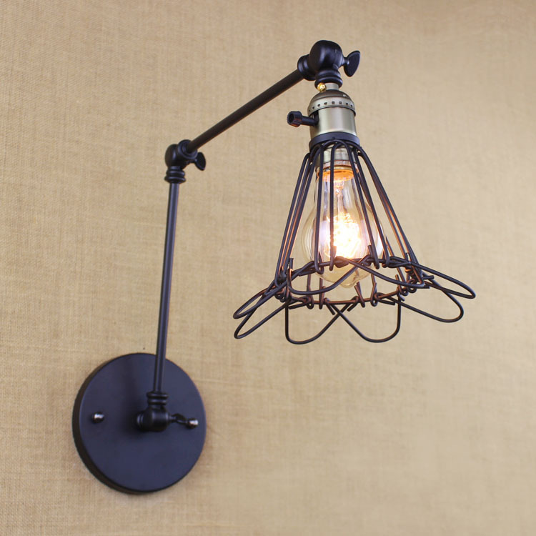 Edison  Vintage Industrial Loft Adjustable Swing Arm Wall Sconce Retro Warehouse Ambient Lighting E27 American Wall Lamps WWL088 motorbike parts saddle shield heat deflector for harley touring road king street glide trike flht fltr flhr 2009 2016 chrome