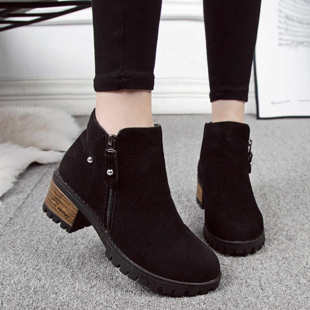 SAGACE/новые стильные ботильоны из лакированной кожи ботинки «Челси» на толстом каблуке с круглым носком женские ботинки из эластичной ткани женская обувь O16 35