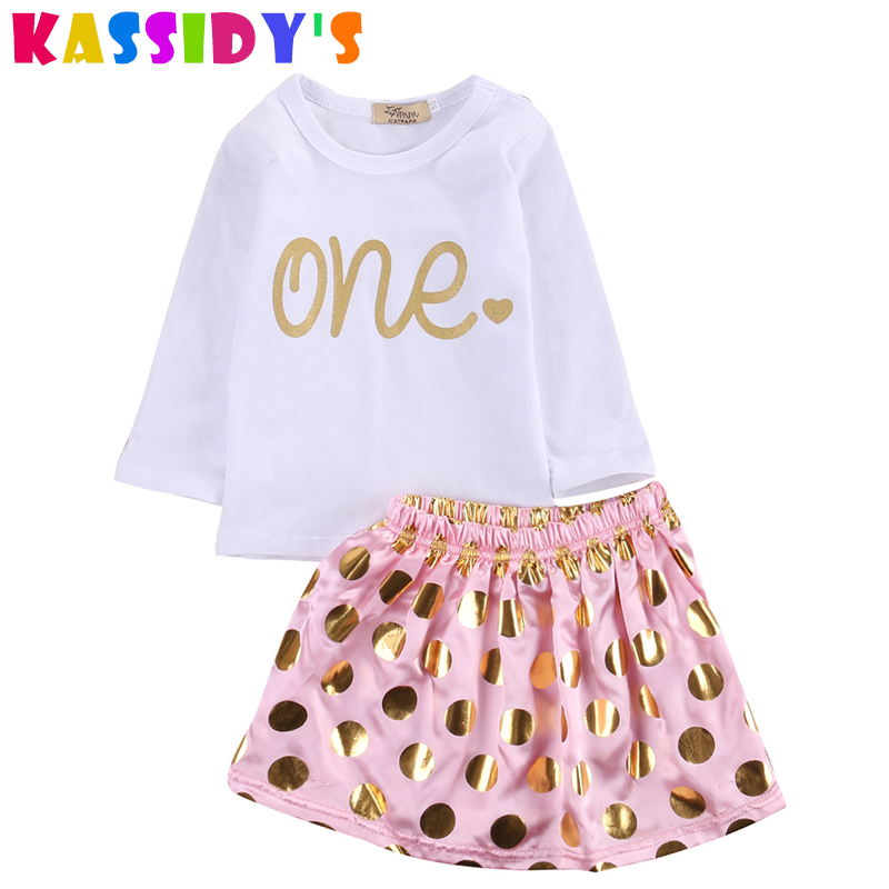 KASSIDYS 2pcs Baby Girl Summer Clothes Newborn Bebe Girl Clothing Set Top +Pink Skirt Infant Clothing Girl Baby Suit Outfit