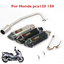 Slip on Motorcycle pcx125 pcx150 Exhaust Pipe Muffler Pipe Tip Link Connect Pipe Exhaust System for Honda pcx125 pcx150 2011-16