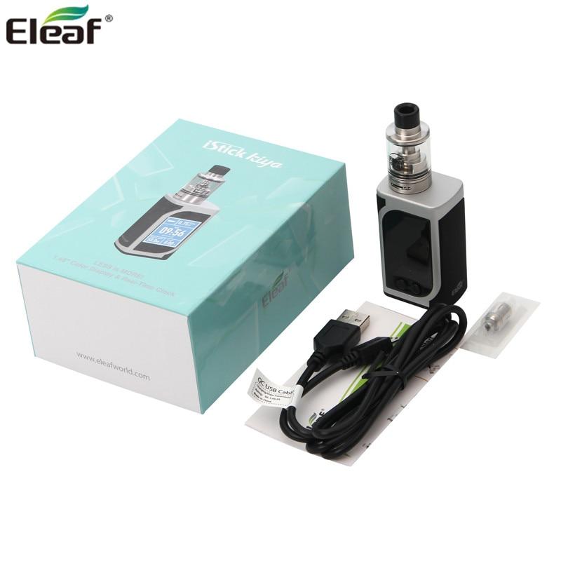 Original Eleaf iStick Kiya Mod with 2ml GS Juni Tank and 50W 1600mAh iStick Kiya Battery MOD 100% eleaf istick 1a eleaf istick 20w 30w 50w istick istick wall adapter
