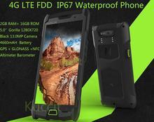 Robusten Android Wasserdichte Handy 4660 mAh handy entsperrt Quad Core TD-LTE stoßfest 4g telefon runbo Katze S6 5 S sonim