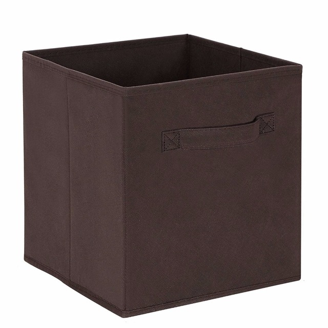 New Cube Non Woven Fabric Folding Storage Bins For Books Underwear Bra  Socks Clothes Organizer
