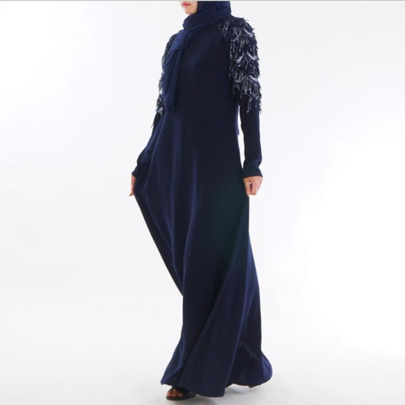Brillante Musulmano Adulto Fresco Tessuto Con Paillettes Cuciture Musulmano Abaya Arabo Musulmano Abiti Musicale Veste Di Preghiera Vestito Wq556 Dropship Rafforza Tendini E Ossa