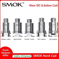 Original 5pcs SMOK Nord Replacement Coil with Regular 1.4ohm Coil and 0.6ohm Mesh Coil for SMOK Nord KIt Electronic Cigarette