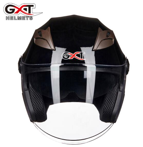 GXT Motorcycle Helmet Open Face Dual Lens Visors Moto Helmet Electric Bicycle Helmet Men Women Summer Scooter Motorbike Helmet