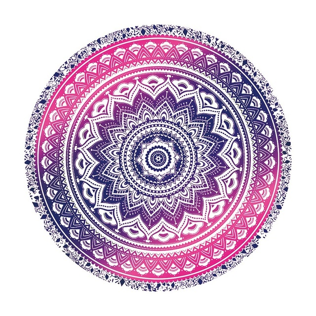 f3d5b1eb51b84a Best Selling Tapestry Totem Multiple patterns Printing Beach Towels Yoga Mat  Sun block Round Bikini Cover-Up Blanket