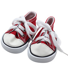 7cm Mini Doll Sneackers for 43CM Reborn New Baby Doll Sport Shoes for 18 inch doll 7cm Toy Boots Doll Accessories