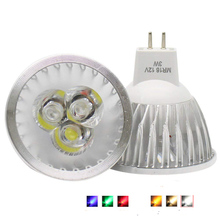 цена на Spotlight Bulb MR16 12V Dimmable 3W 4W 5W High Power LED Light Warm/Cool White/red/green/blue LED Lamp Downlight