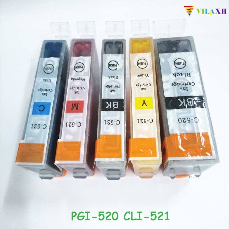 PGI-520 CLI-521 Ink Cartridge For Canon PGI 520 PGI520 CLI521 PIXMA MP540 MP550 MP560 MP620 MP630 MP640 IP3600 IP4600 IP4700 5pcs pgi 520 pgi 520 cli 521 ink cartridge for canon mp540 mp550 mp560 mp620 mp630 mp640 mp980 mp990 mx860 mx870 printer ink