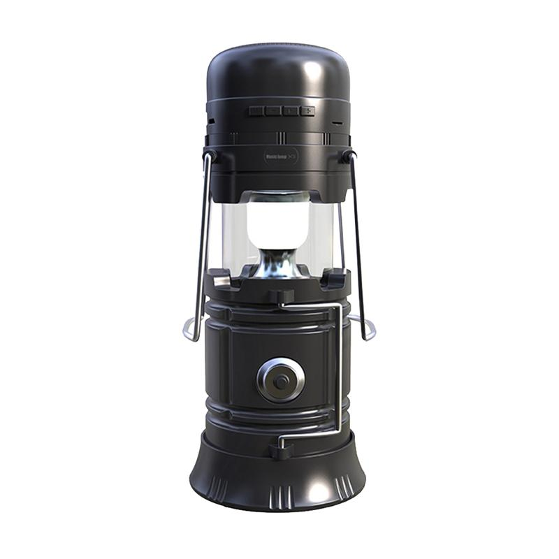 Multifucntion LED Camping Lantern Flashlights Camping Equipment Tent Light USB Rechargeable Survival Kit for Emergency (Black)