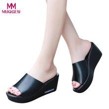 1c4a7511ea6 2019 Baru Fashion Sepatu Sandal Kasual Wanita Ikan Mulut Platform Sepatu  Hak Tinggi Sandal Lereng Sandal