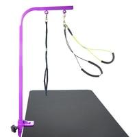 Cat Grooming Arm 90 cm Professional pet table Noose Loop Lock Clip Pets Stainless Steel Suspension Bracket with sling CW048