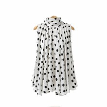 Elegant Black And White Polka Dot Print Women Blouse Summer Sleeveless Halter Top Bow Tie Back Casual Shirts white casual halter sleeveless t shirts