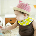 cool!!!2016 Fashion SummeSummer stripes baby cat ears and sunbonnet Cap Hat For baby girl and baby boy Casual Caps Hats