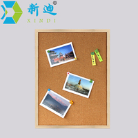 Free Shipping Brown Framed Cork Board 60 45cm Factory Direct Sell Home Decorative High Quality