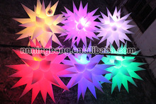 15m diameter inflatable stars with led lights