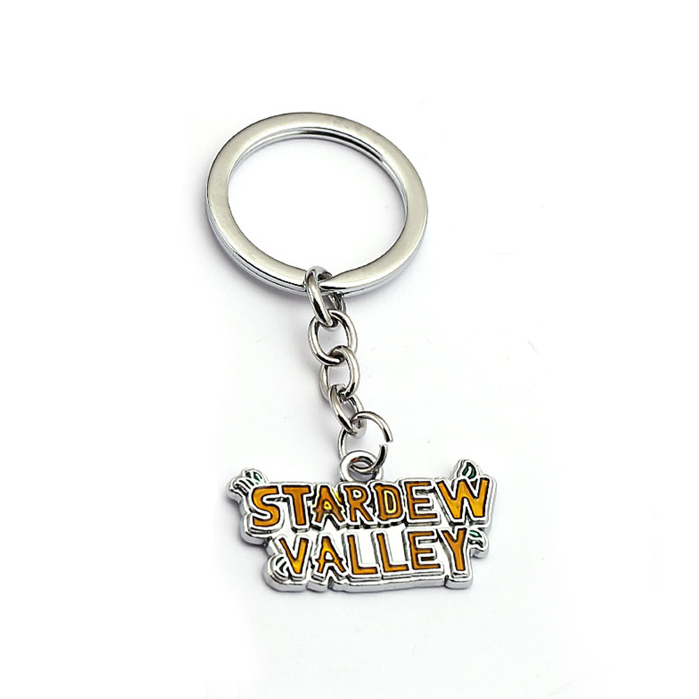 Game Stardew Valley Key Chains For Men Women Keychain Bag Car Keyring Key Ring Holder Porte Clef Jewelry For Gifts