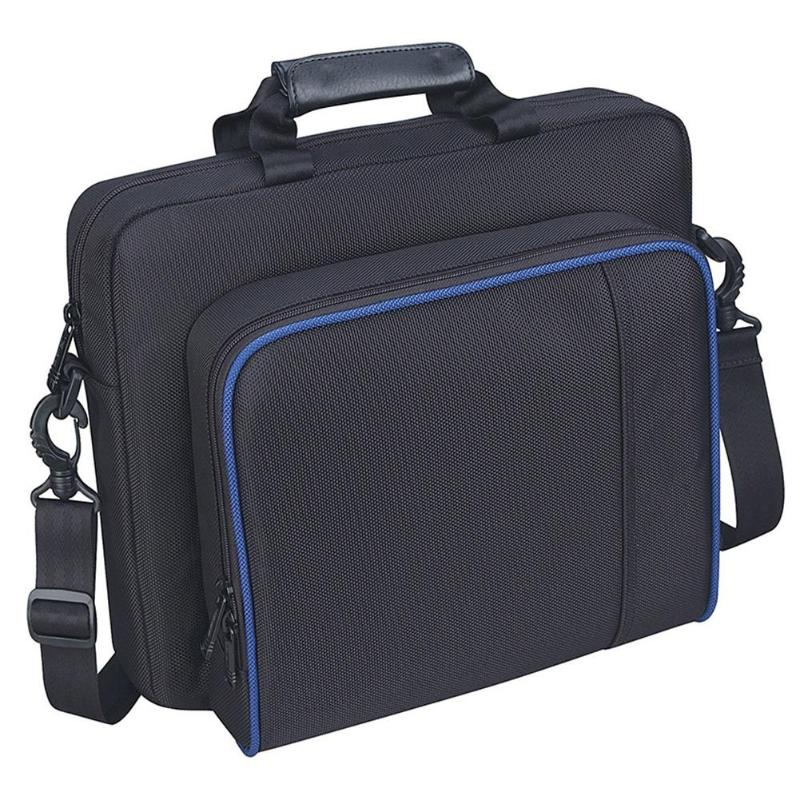 Shoulder Bag Carrying <font><b>Case</b></font> Handbag for PlayStation 4 <font><b>PS4</b></font> Slim Game <font><b>Console</b></font> Original size Protect Shoulder Carry Bag Dropshipping image