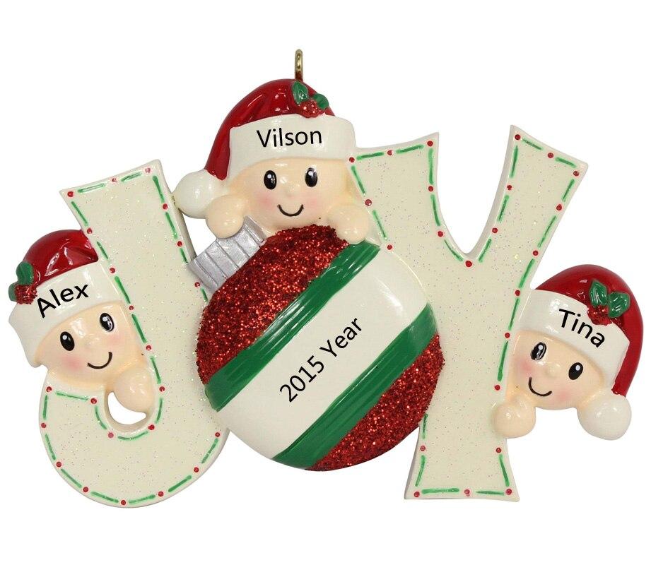 Miembros de Joy Family de 3 adornos de árbol de navidad con adornos - Para fiestas y celebraciones - foto 3