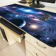 Mairuige 900*400*3mm Blue Space Extended Gaming Speed Mouse Pad Mat Stitched Lock Edges Waterproof Rubber Mousepad Keyboad