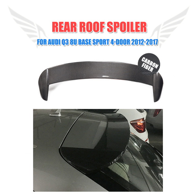 Carbon Fiber Rear Roof Spoiler for Audi Q3 8U Base Sport 4-Door 2012 - 2017 Trunk Wing Lip
