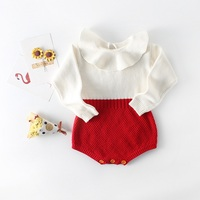 12 58 Per Vieeolove Baby Girls Rompers Clothes Spring Fashion Knitting Long Sleeve Romper EE