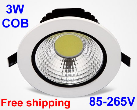 Cob led downlight 3wled ceilingled lights for homespot ledbright cob led downlight 3wled ceilingled lights for homespot ledbright integrated light source lamps3000k 4000k 6000k in downlights from lights lighting on mozeypictures Gallery