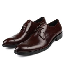 Mens Spring New Business Dress Shoes Luxry Genuine Leather Pointed Fashion Wedding Formal JS-A0060