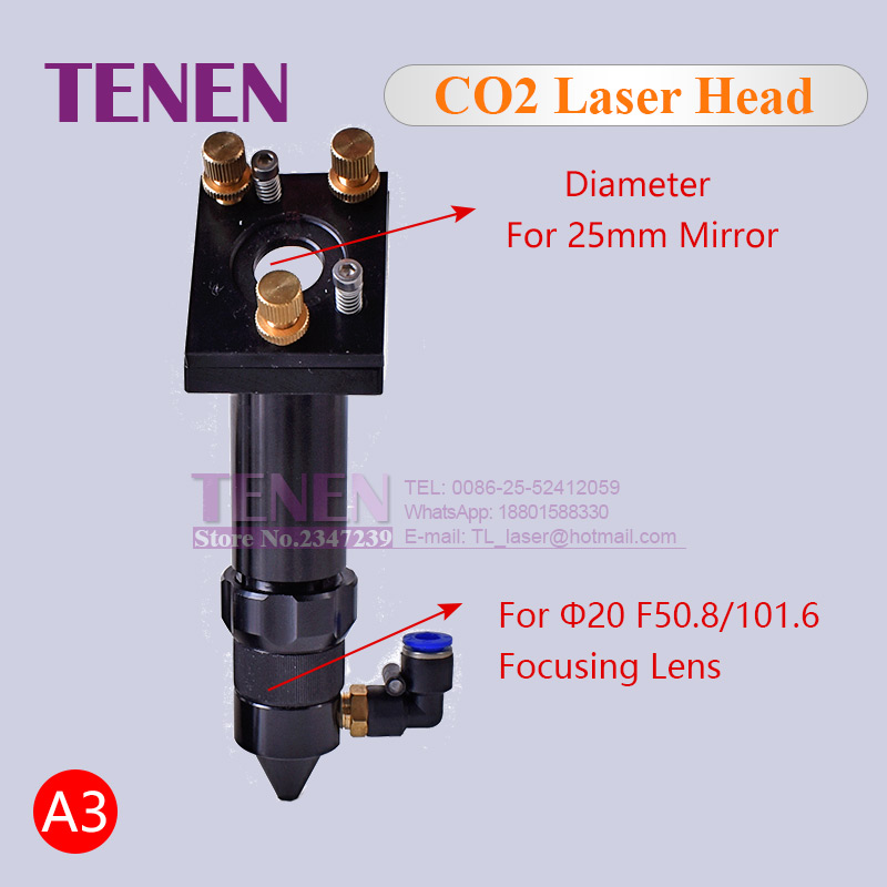 Image 4 - CO2 Laser Head Set / Reflective Mirror & Focusing Lens Integrative Fixture Mount Holder For Laser Engraver Cutting Machine Parts-in Woodworking Machinery Parts from Tools