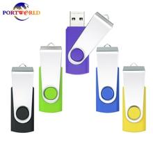 Super Saturday 2017   New 5pcs Flash Drive 8GB USB 2.0 Thumb Drive Fold Swivel Memory Stick Color: Purple Yellow Black Blue Green
